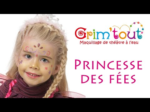Mod le maquillage enfant princesse des f es youtube - Modele maquillage princesse ...