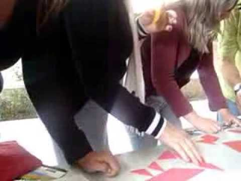 Docentes  practican con el Tangram I E Sta Rosa de Lima
