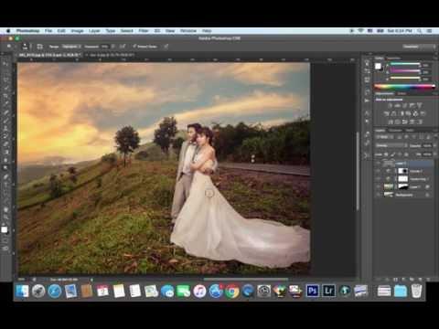 Photoshop [Ps] เปลี่ยนฟ้า 5 นาที for Pre-wedding photogpraher