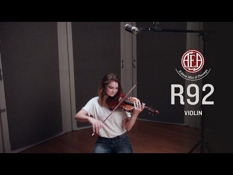AEA R92 Front - Violin - Listening Library