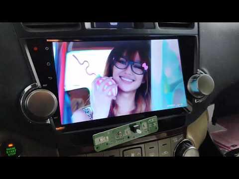 Штатная камера ЗХ на Андроид Toyota higlander