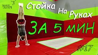 Как научиться стоять на руках за 5 минут! Как делать стойку на руках! Туториал #17