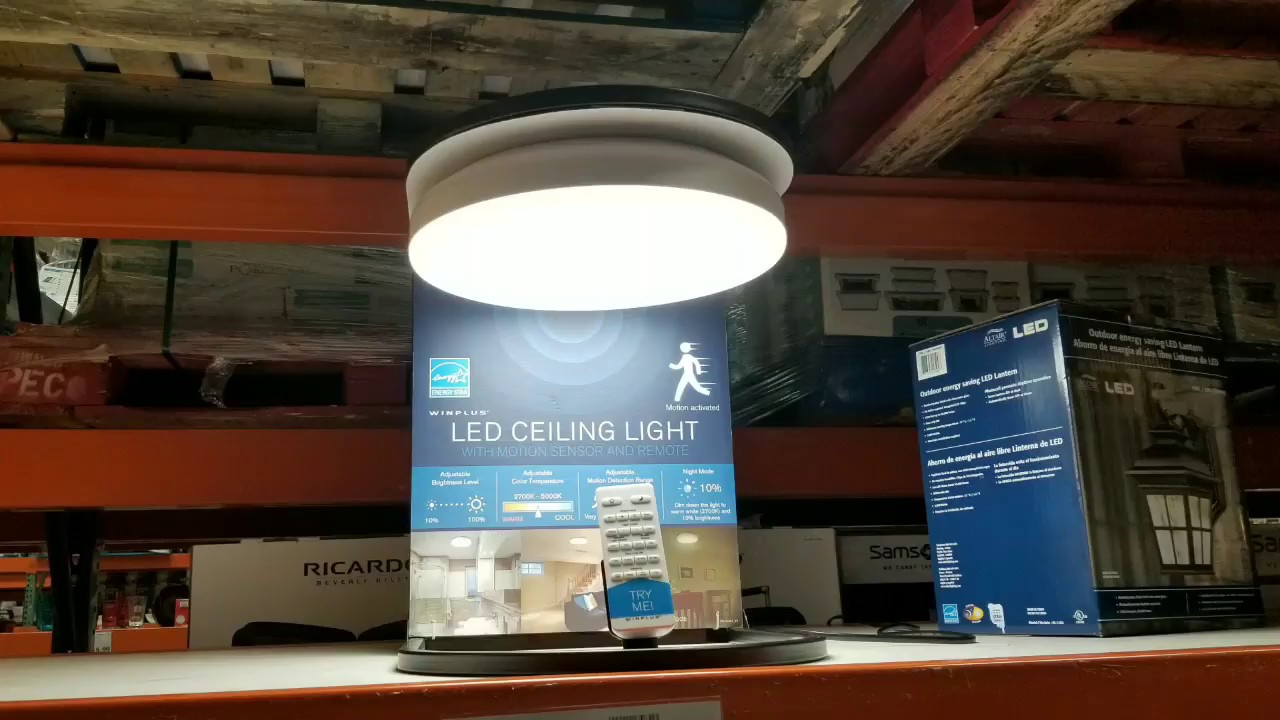 Costco Winplus Led Ceiling Light W Smart Sense 25