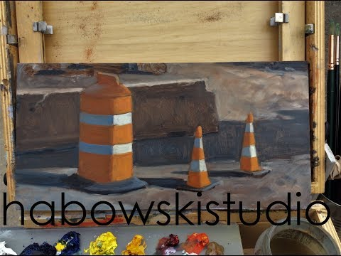 "Plein air oil demo – ""Urban Composition II"""
