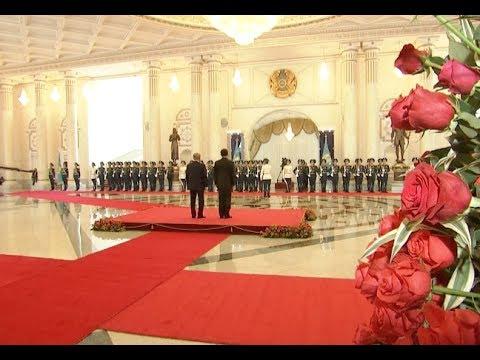 Kazakh President Holds Welcome Ceremony for Visiting Chinese President