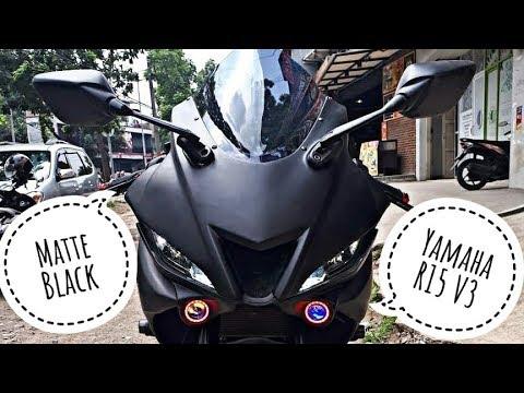 Matte Black Yamaha R15 V3 0   Modified R15 V3 0