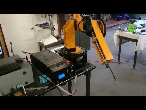 Homemade Industrial Robot - First Accuracy and Repeatability Tests