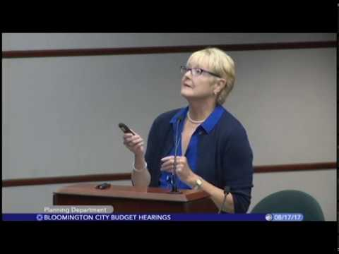 City of Bloomington Budget Hearings (4/4) - 8/17/17
