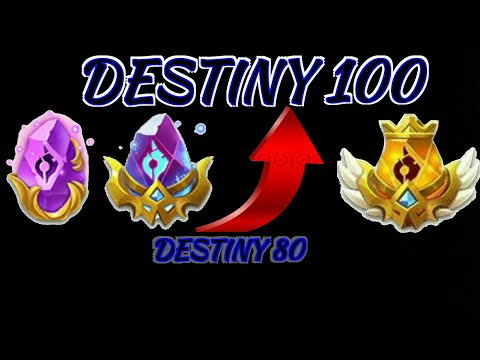 Whats Needed For Destiny 80 - 100 ? | Castle Clash