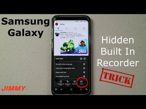 Enable built in screen recorder in samsung
