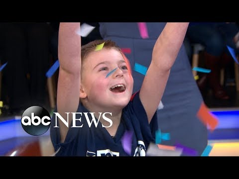 'GMA' gives 2019 NFL Kid Correspondent the surprise of a lifetime