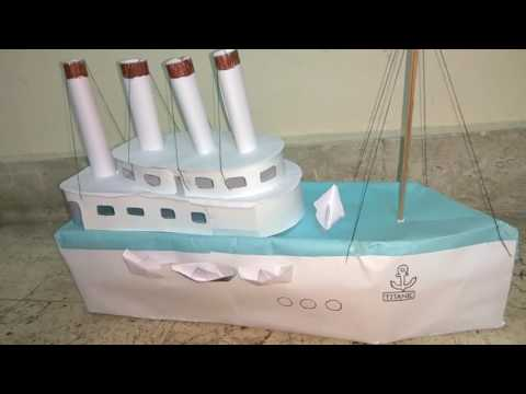 Titanic ship Model with chart paper in easy way