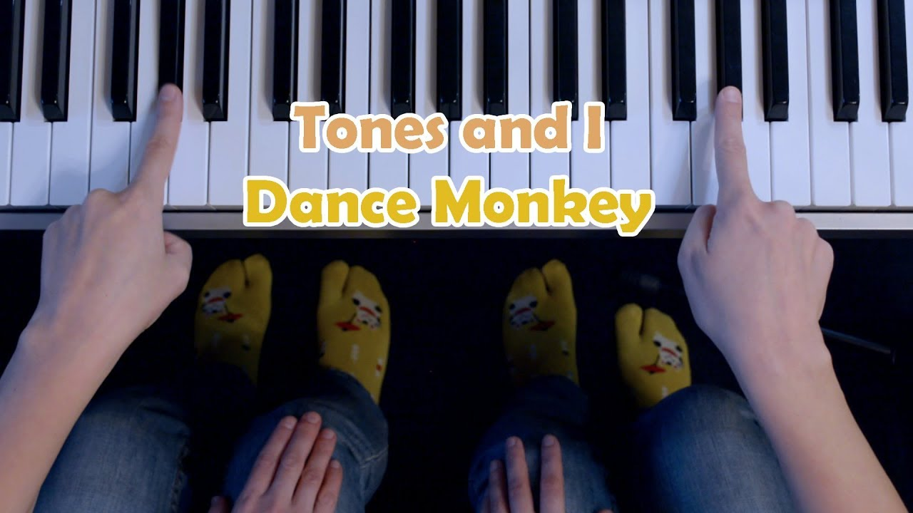 dance monkey piano with letters
