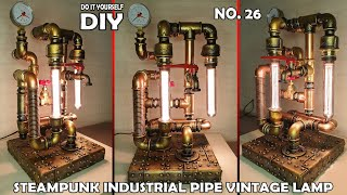 #26 Steampunk DIY Industrial Pipe Lamp / How to Make an Industrial Steampunk Pipe Lamp screenshot 3