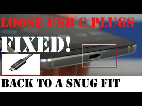 🔋How to Fix loose USB C Plugs from Falling out of Phone, Try it before you knock it! (read comments)