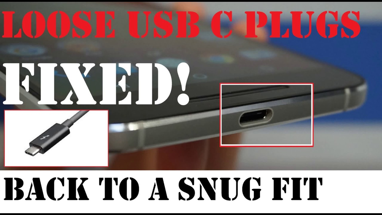 ?How to Fix loose USB C Plugs from Falling out of Phone, Try it before you knock it! (read comments)