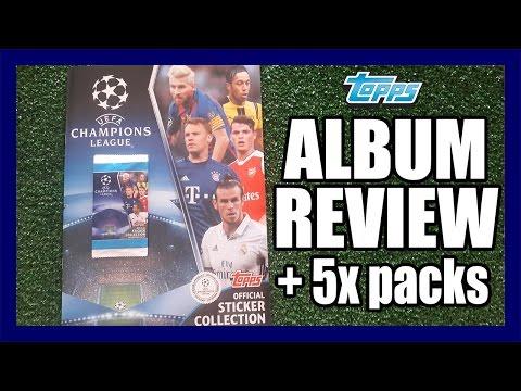 ALBUM REVIEW + 5x PACKS | Figuritas TOPPS CHAMPIONS LEAGUE 2016/17