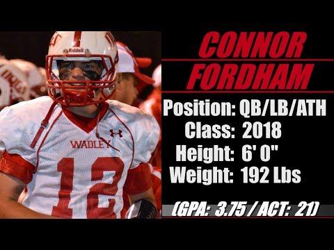 "2018- Street Light Recruiting- QB-MLB- Connor Fordham (6' 0""- 192 Lbs) -Wadley High School (AL)"
