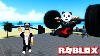 Kim Kimi Dövüyor Belli Değil!! - Panda ile Roblox Weight Lifting Simulator 3