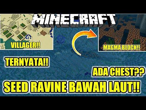 SEED UNDERWATER RAVINE!!😱 BANYAK DIAMOND?? 😱 (SEED MCPE) | Minecraft PE | MINECRAFT INDONESIA