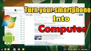 [Hindi] Andromium OS For Android Smartphones and Tablets | Turn your android into Work Pc