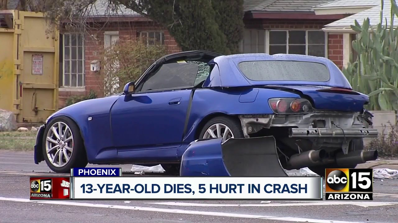 Teenage boy dies following crash with suspected impaired driver in Phoenix