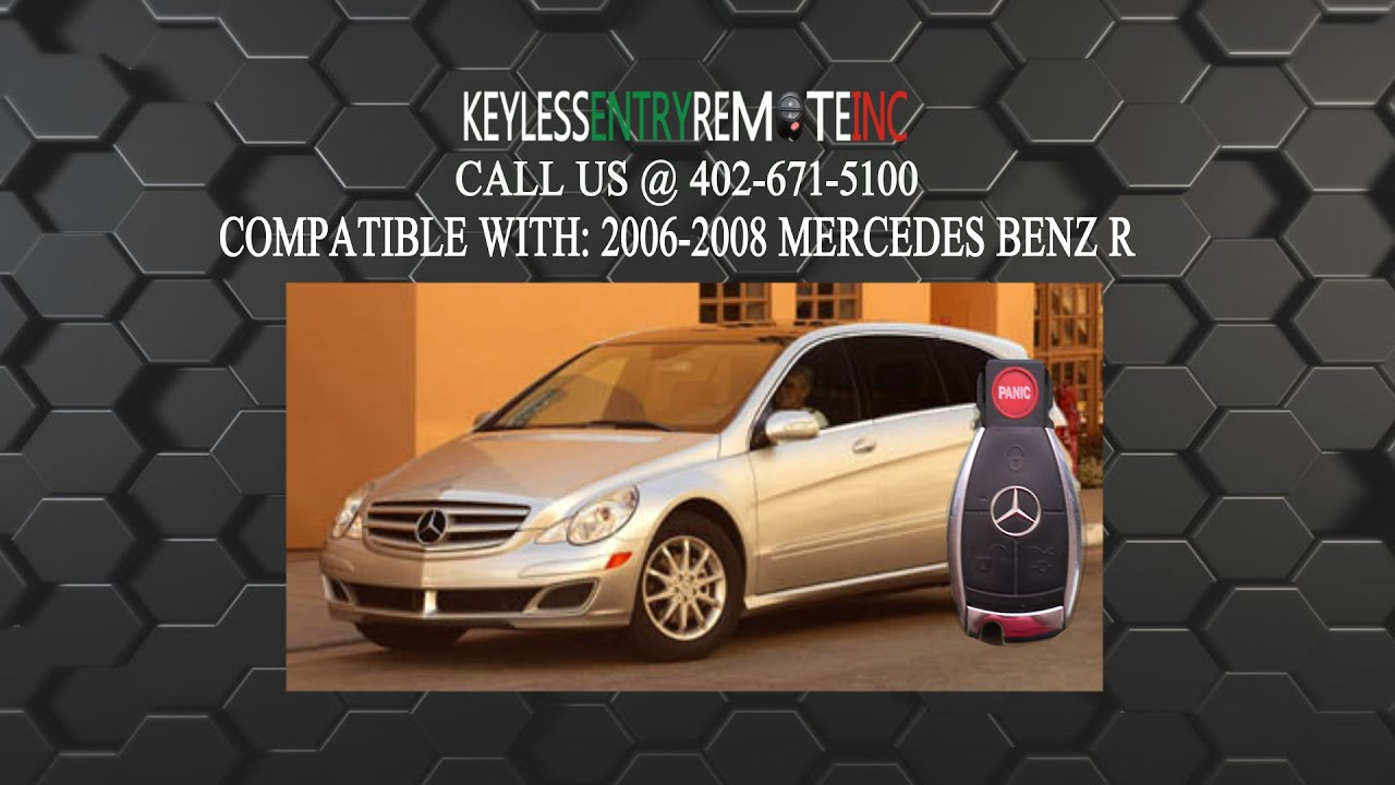 How To Replace Mercedes Benz R Class Key Fob Battery 2006 ...