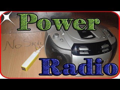Life hacks old radio on 5v cheap power bank Hack Solar radio