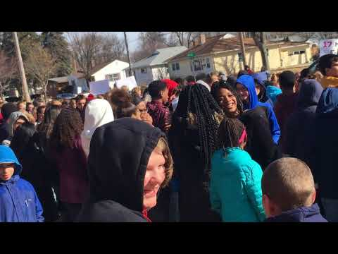 Whitehorse Middle School Walk Out, Madison, WI - 3.14.18