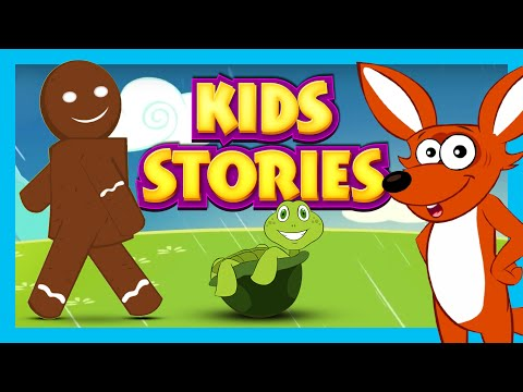 KIDS STORIES - THE GINGERBREAD MAN & MORE STORIES | KIDS STORIES IN ENGLISH | KIDS HUT