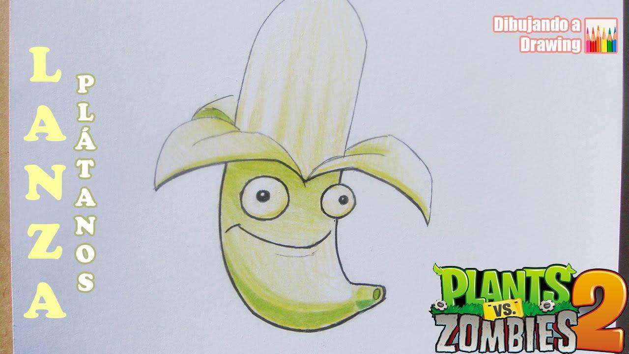 Como Dibujar A Un Pomelo De Pvz: Lanzaplatanos Plantas Vs Zombies T