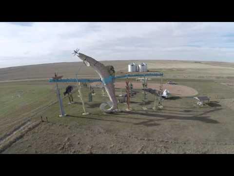 Enchanted Highway (North Dakota) via drone