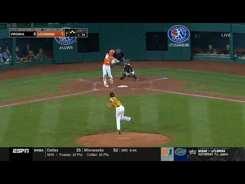 LLWS 2019 Elimination Game | Virginia vs Louisiana | 2019 Little League World Series Highlights