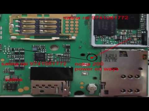 Nokia Asha 200 On/off, Power Butten tracks jumper solution