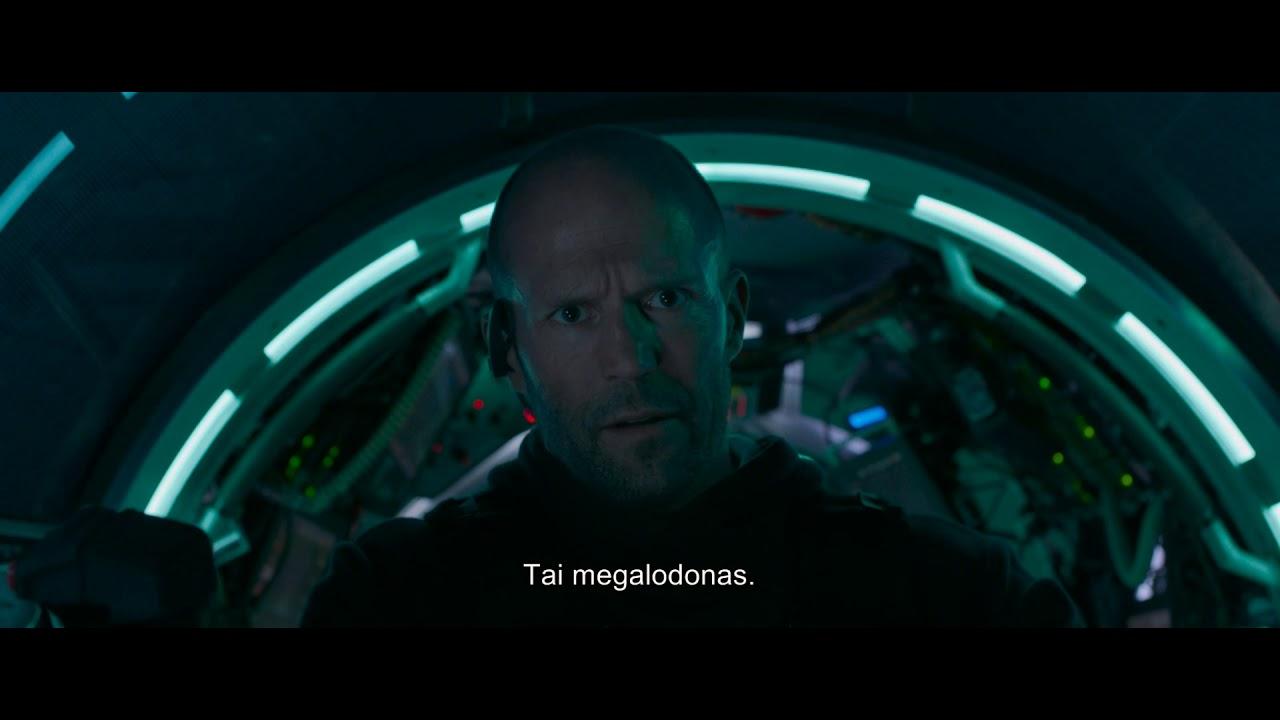 MEGALODONAS: GRĖSMĖ IŠ GELMIŲ - naujausias filmas su Jason Statham - primais anonsas