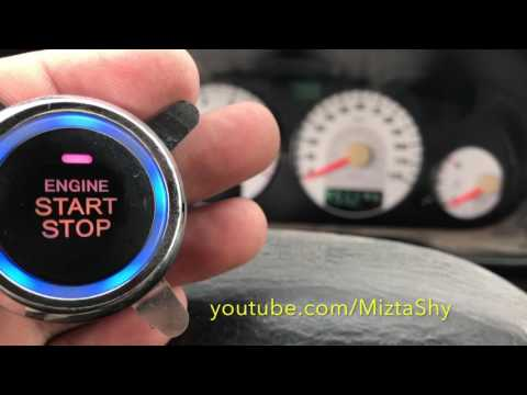 how to install push to start system button in car or truck