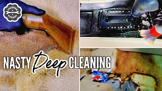 Complete Disaster Car Interior Detailing Transformation! DEEP CLEANING A Really Dirty Car!