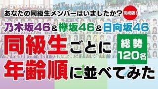 今回はリクエストに答えて、乃木坂46・欅坂46・日向坂46を学年別に整理...