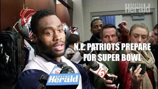 N.E. Patriots Prepare for Super Bowl & Philadelphia Eagles