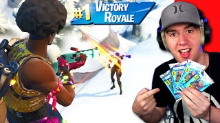 I used Fortnite Trading Cards to Win! *Challenge* (Fortnite: Battle Royale)