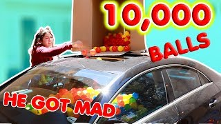 10,000 BALL PIT BALLS IN HIS CAR PRANK!