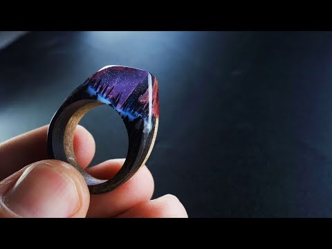 How To Make Two-Color Ring Wood and Epoxy Resin ( Day and Night)