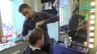 Короткая модельная мужская стрижка и оформление бороды в салоне красоты Barber 0+