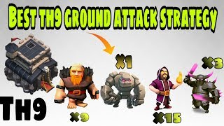 The Best th9 attack strategy in hindi | ground troops 3-star attack| Clash of clans