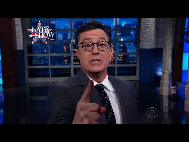 Stephen Colbert - Obama's Final Message To The Press