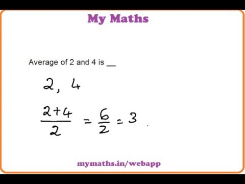 how to work out the average of two numbers