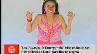 ''Payasos de Emergencia'' llevan alegría a zonas pobres de Lima
