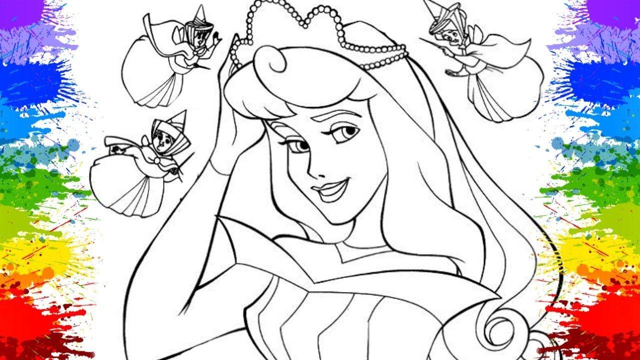 Pinturas Desenho De Crianca Vestido De Princesas Disney Aurora