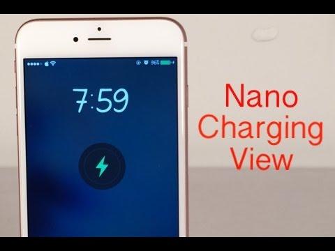 Cydia Tweak: NanoChargingView - WatchOS charging style on iOS