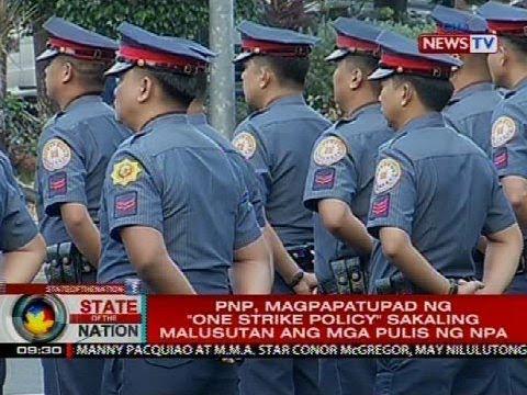 """PNP, magpapatupad ng """"one strike policy"""" sakaling malusutan ang mga pulis ng NPA"""